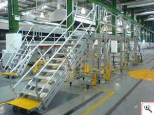 Vilcienu piekļuves iekārtas, darba platformas, kāpnes, trepes